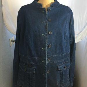 Faded Glory Woman's Plus 18/20 Denim Jacket NWT